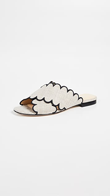 Isa Tapia Nueva Scalloped Slide Sandals
