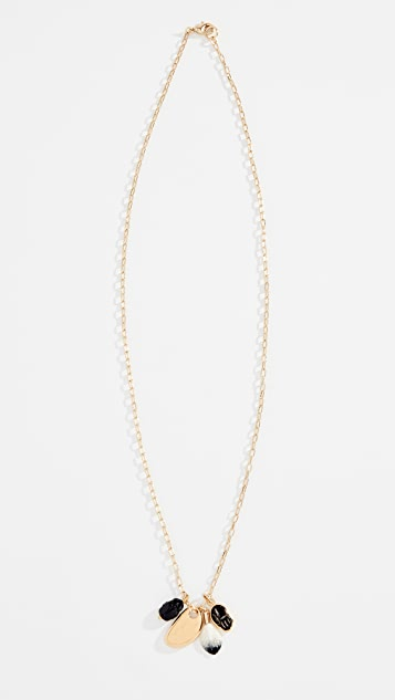 Isabel Marant Collier Scarabe Charm Necklace