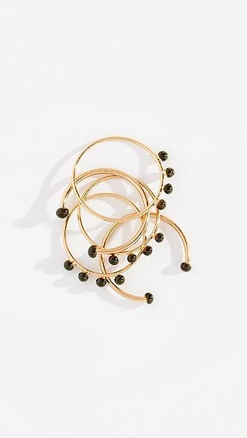 Isabel Marant Bague Casablanca Stackable Ring Set