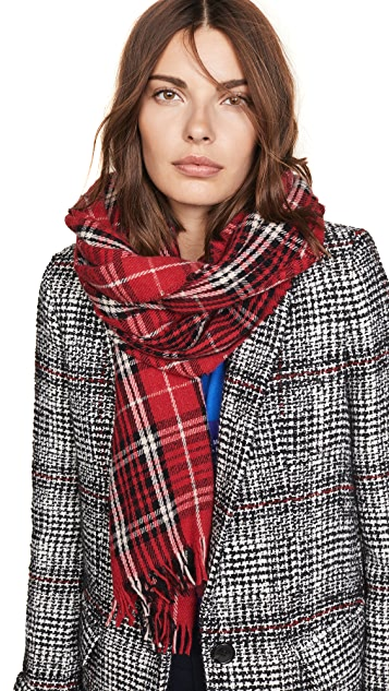 Isabel Marant Isidore Color Checks Scarf