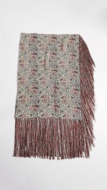 Isabel Marant Heloise Printed Fringe Silk Scarf
