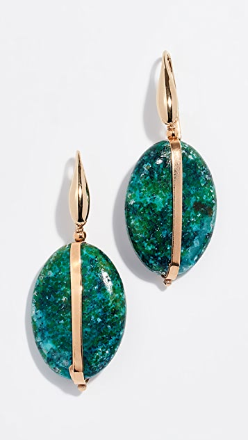 Isabel Marant Chrysocolla Stone Earrings