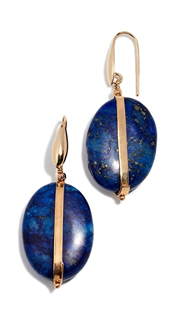 Isabel Marant Chrysocolla Stone Earrings