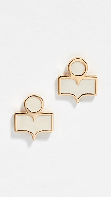 b552940836 Isabel Marant Logo Stud Earrings | SHOPBOP
