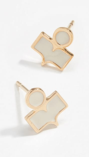 Isabel Marant Logo Stud Earrings