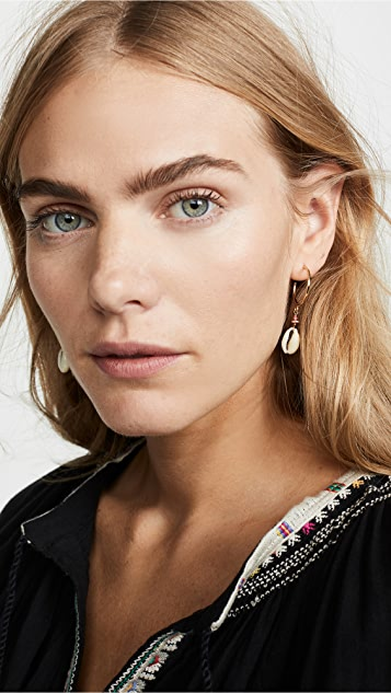 Isabel Marant Boucle Shell Hoop Earrings