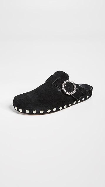 Isabel Marant Замшевые туфли Mirvin на плоской подошве