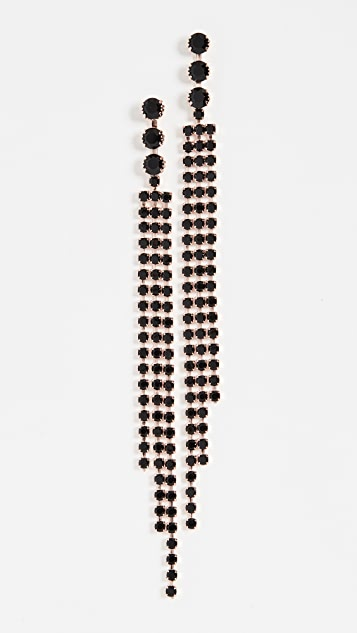 Isabel Marant Crystal Fringe Earrings
