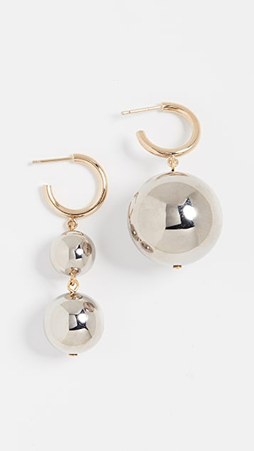 Isabel Marant Polished Sphere Earrings