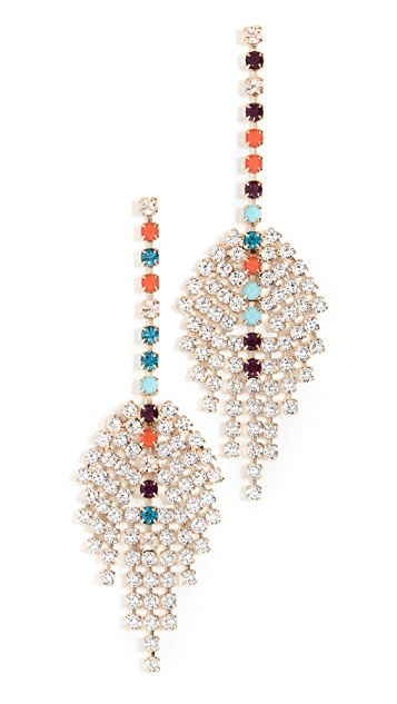 Isabel Marant Crystal Feather Earrings