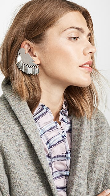Isabel Marant Dove and Leaf Earrings