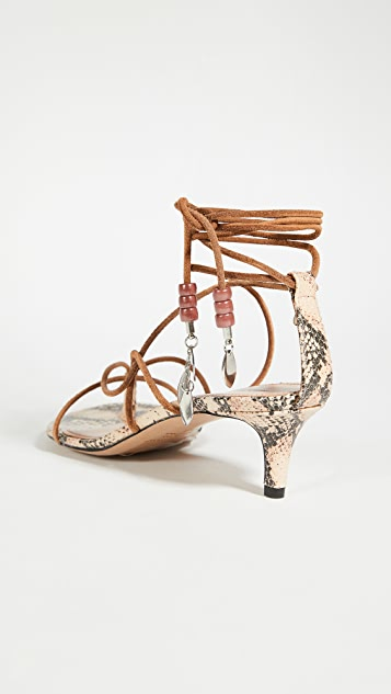 Isabel Marant Anira Mid Heel Strappy Sandal