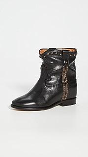 Isabel Marant 包边坡跟簇状靴子
