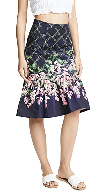 Isolda Midi Frilled Skirt