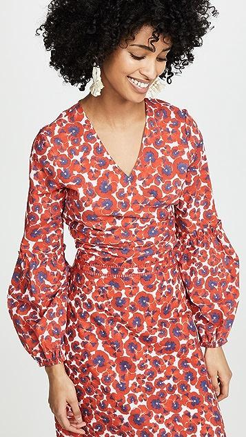 Isolda Sara Tie Front Top