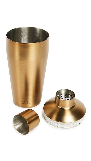 Izola Gold Tone Cocktail Shaker