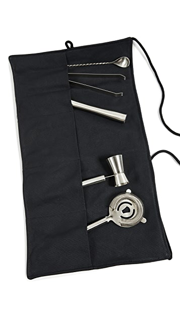 Izola Canvas Bar Apron & Tool Set