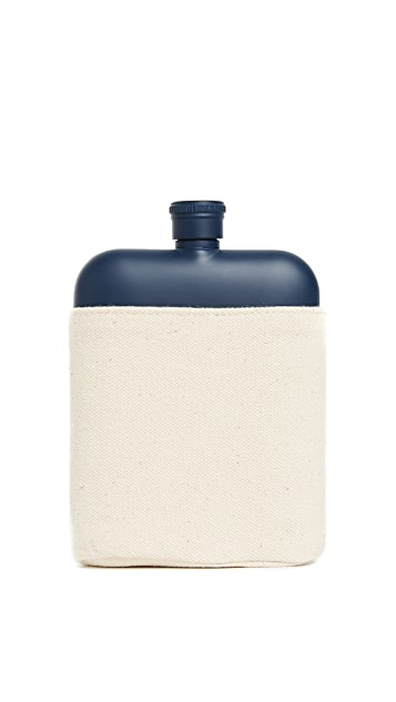 Izola Stainless Steel Flask & Canvas Carrier