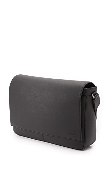 Jack Spade Barrow Leather Messenger