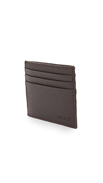Jack Spade Barrow Leather 6 Card Holder