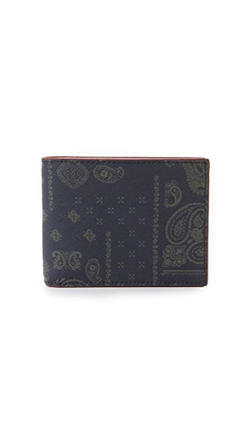 05524638a0 Bandana Print Leather Slim Billfold
