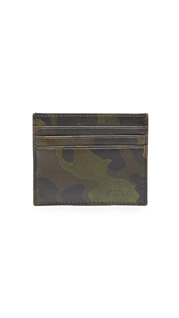 Jack Spade Camo Leather 6 Card Holder