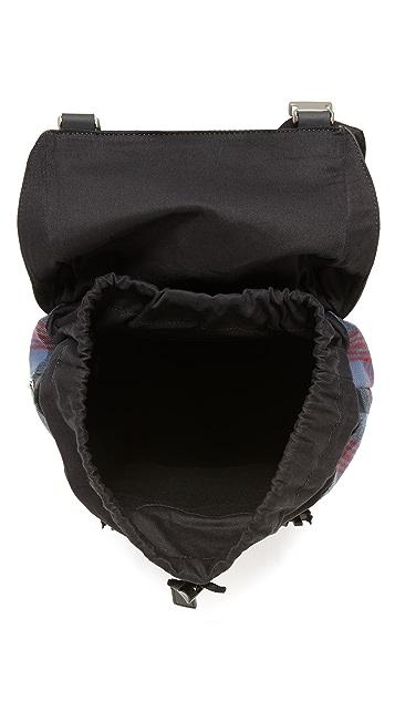 Jack Spade Plaid Army Backpack