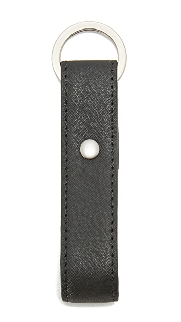 Jack Spade Barrow Leather Keyfob