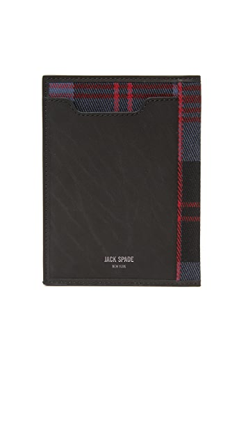 Jack Spade Plaid Passport Holder