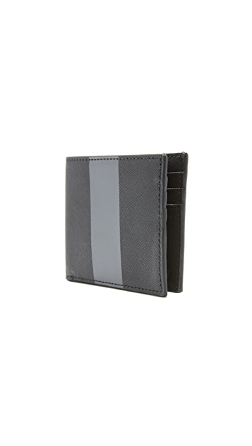 Jack Spade Striped Barrow Leather Slim Billfold