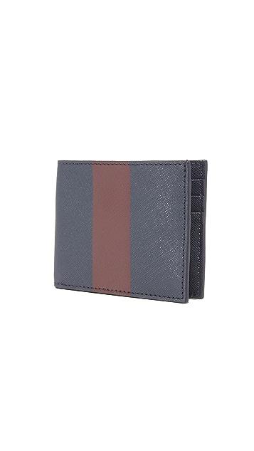 Jack Spade Striped Barrow Leather Slim Billfold