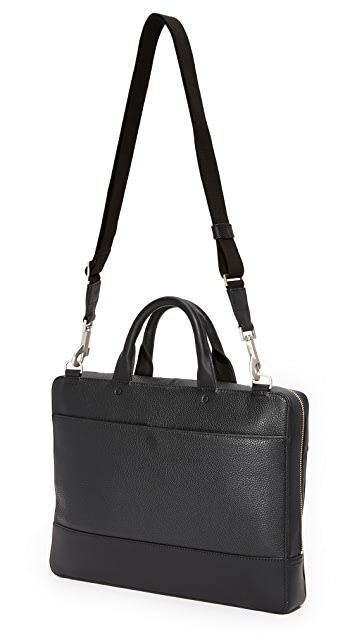Jack Spade Pebbled Leather Slim Briefcase