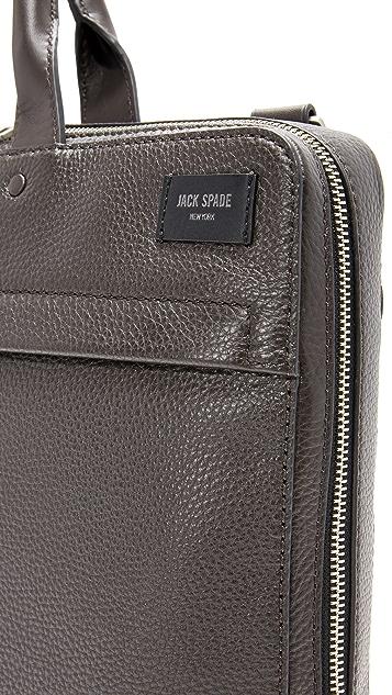 Jack Spade Pebbled Leather Slim Briefcase