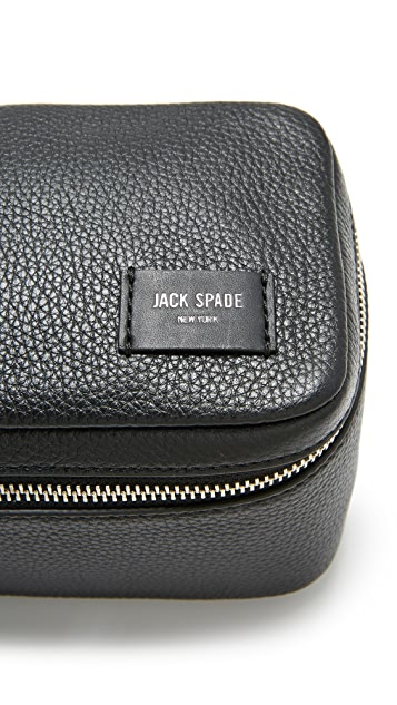 Jack Spade Pebbled Leather Travel Kit