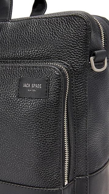 Jack Spade Pebbled Leather Commuter Briefcase