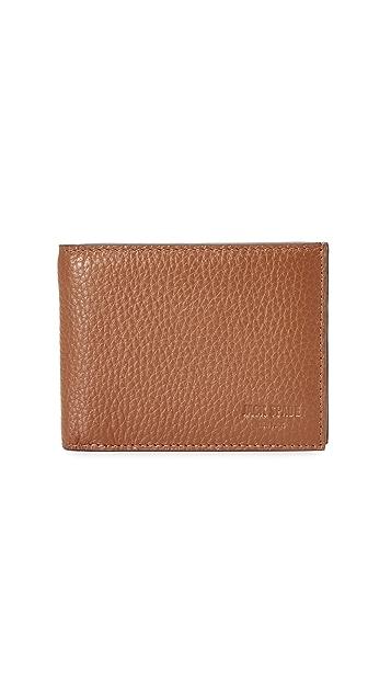 264141e76cee8 Jack Spade Pebbled Leather Slim Billfold