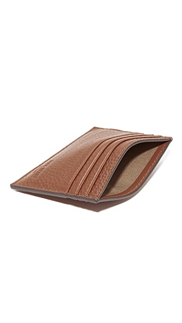 Jack Spade Pebbled Leather 6 Card Holder
