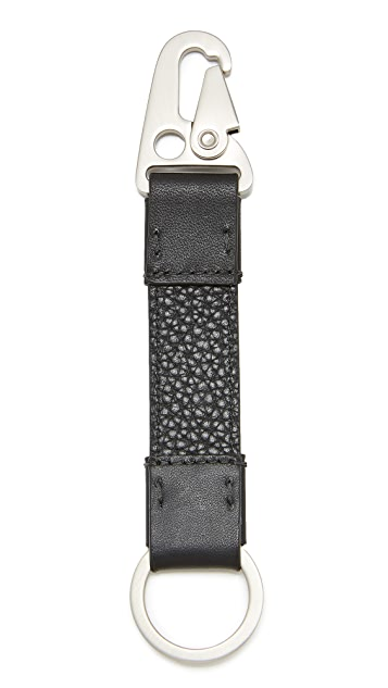 Jack Spade Pebbled Leather Key Fob