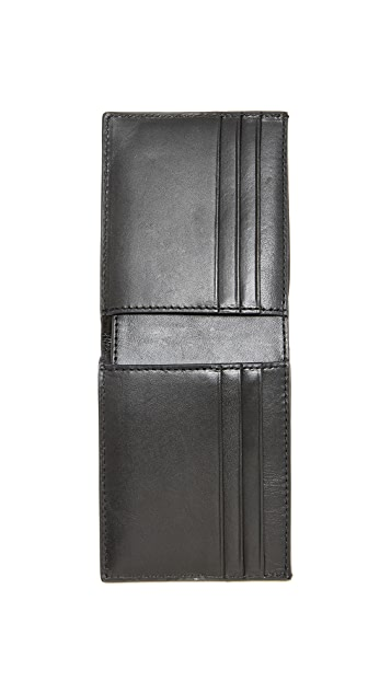 Jack Spade Printed Camo Leather Slim Billfold