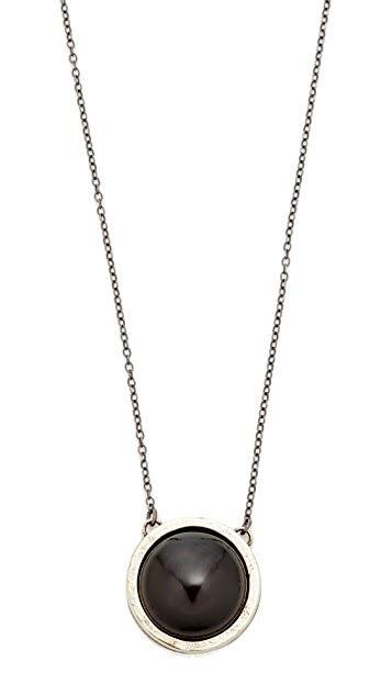 Jacqueline Rose Obsidian Dual Pendant Necklace