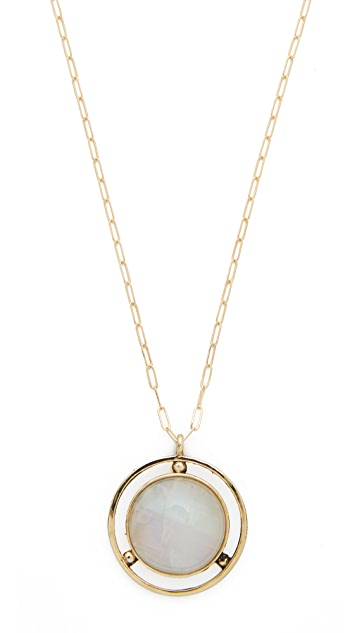 Jacqueline Rose Amulet Moonstone Pendant Necklace