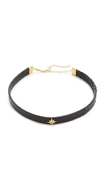 Jacquie Aiche JA Starburst Python Choker Necklace