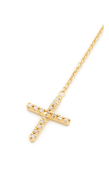 Jacquie Aiche JA Cross Y Necklace