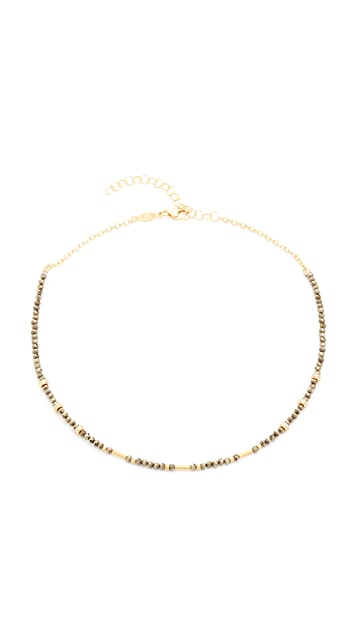 Jacquie Aiche JA Pyrite Beaded Necklace