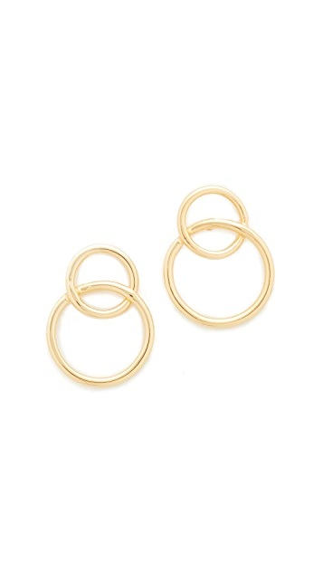 Jacquie Aiche JA Overlapping Circle Stud Earrings