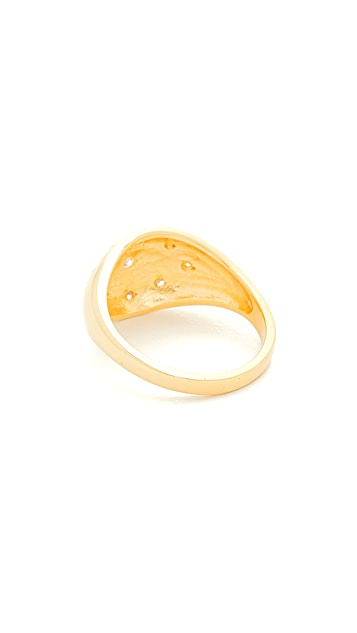 Jacquie Aiche JA Burst Oval Dome Signet Ring