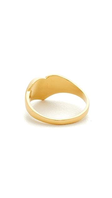 Jacquie Aiche JA Burst Heart Signet Pinky Ring