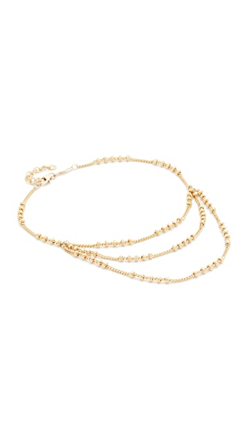 Jacquie Aiche Trio Beaded Anklet
