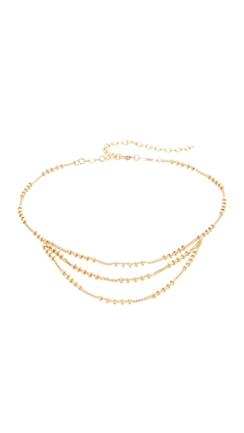 Jacquie Aiche 3 Row Beaded Necklace