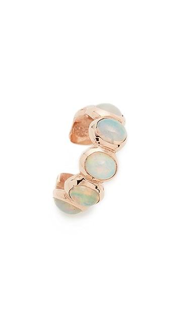 Jacquie Aiche 14k Rose Gold Opal Eternity Ear Cuff